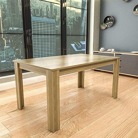 Vida Designs Medina Table de Salle à Manger rectangulaire en Bois MDF 6 Places Chêne