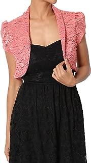 Occasion Lace Long Sleeve Bolero Layering Crop Dress Shawl Jacket