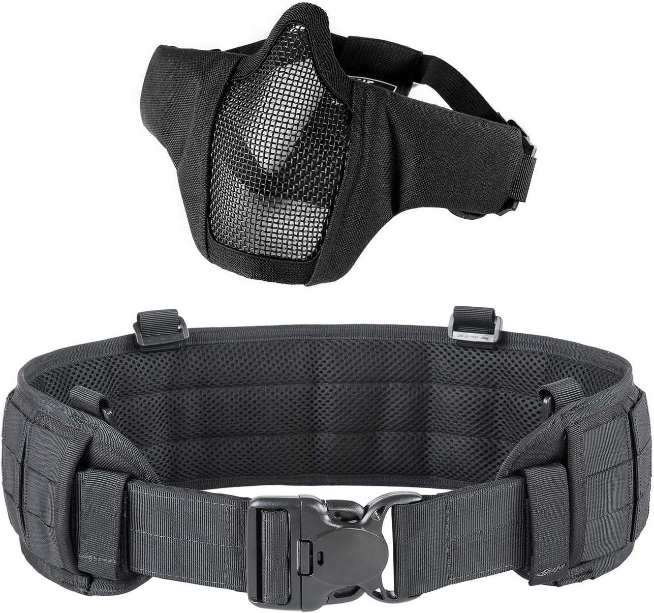OneTigris Black Airsoft Cheap mail order sales Belt mart Mask Tactical