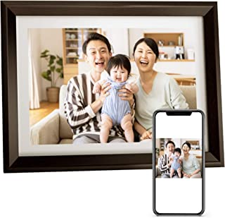 Dragon Touch デジタルフォトフレーム 10.1インチタッチスクリーン 1280*800高解像度 WiFi IPS広視野角 16GB内蔵メモリ 90°~360°回転可能/USBメモリー/SDカード対応/写真動画再生/カレンダー/アラー...