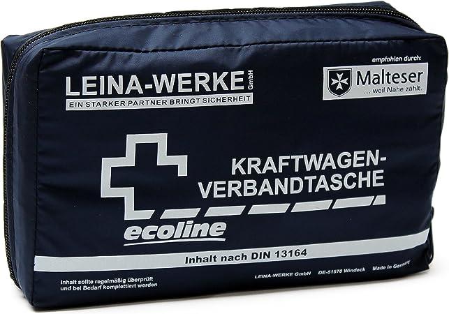 Leina Werke 11038 Kfz Verbandtasche Compact Ecoline Mit Klett Schwarz Weiß Auto