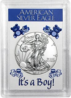 2017 American Silver Eagle - It's A Boy - Harris Holder One Ounce .999 ASE $1 Brilliant Uncirculated