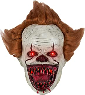 Pennywise Mask, Pennywise Clown Mask Stephen King It Mask Scary Halloween Cosplay Prop for Men Boys (One Size, Mask B)