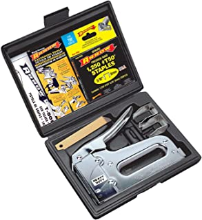 Heavy Duty Staple Gun Kit Black Metal Plastic
