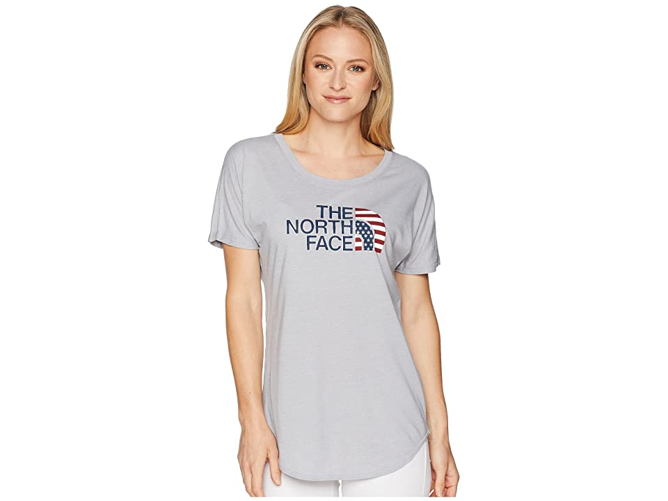 The North Face Americana Track Tee (TNF Light Grey Heather) Women