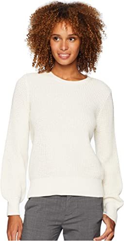 Cotton Bishop-Sleeve Sweater