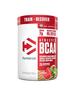 Dymatize Athlete's BCAA Supplement, 7g of BCAAs, Amino Acids Essential for Muscle Recovery, Fast Absorbing & Banned Substa...