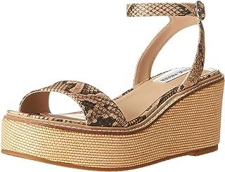 Steve Madden Women's Wedge Platform Sandal, Snake, 8
