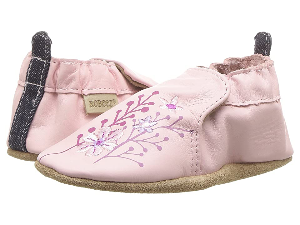 Robeez Blooming Floral Soft Sole (Infant/Toddler) (Light Pink) Girl