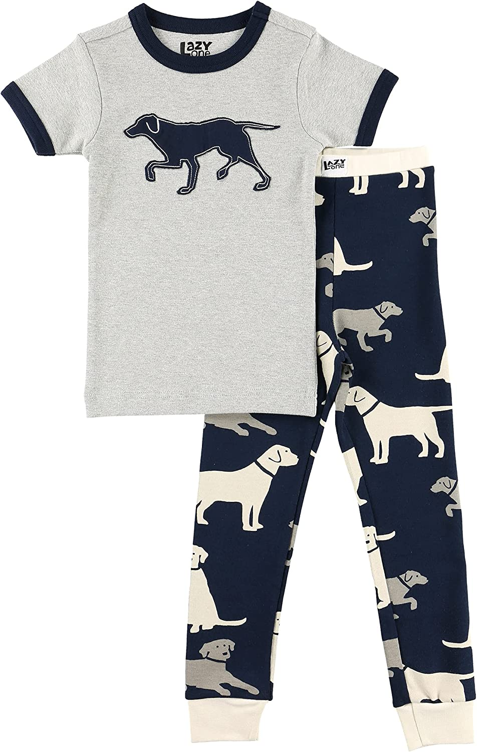 Lazy One Short-Sleeve Pajamas Sets for Dealing full Jacksonville Mall price reduction and Girls Boys Kids' Sof