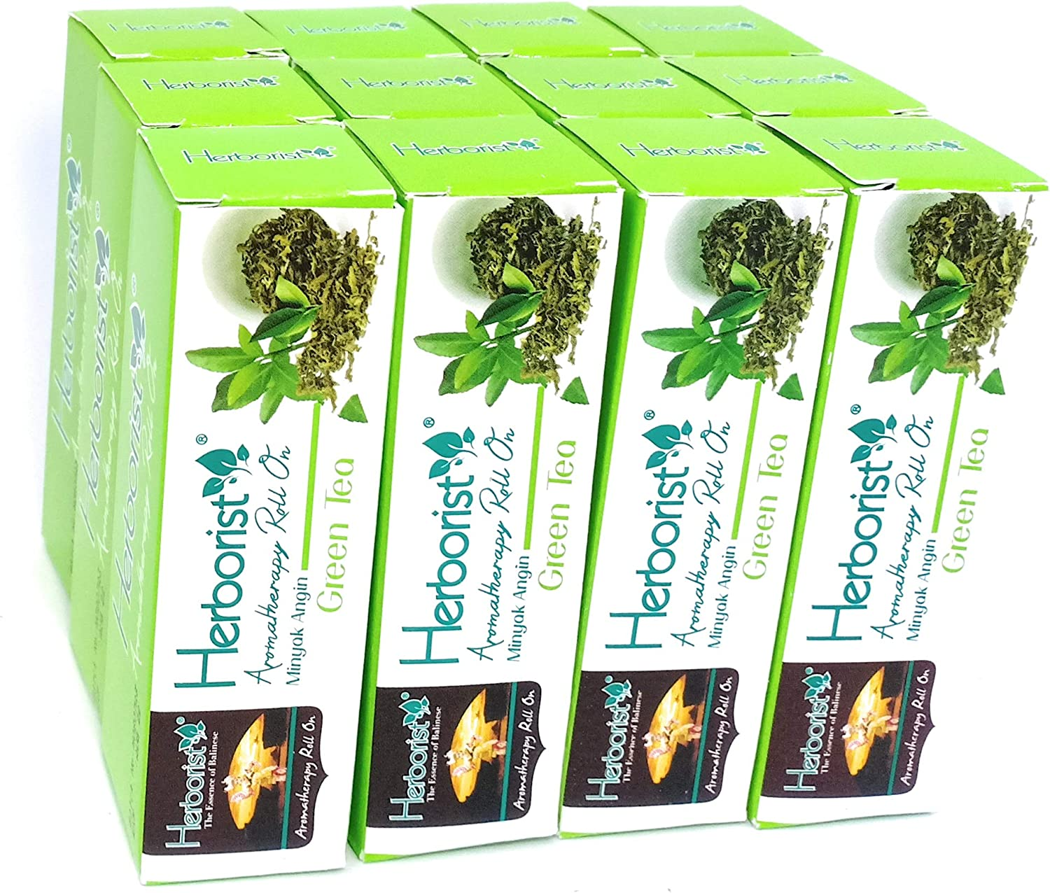 Herborist Aromatherapy Roll on Oil New Orleans Mall - Green ml Tea 1 Now free shipping 10 Pack of