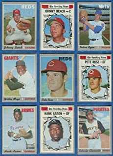 1970 Topps Baseball Complete Set 720 Cards Includes Such Stars As Nolan Ryan, Hank Aaron, Willie Mays, Pete Rose, Tom Sever, Thurman Munson and Many More