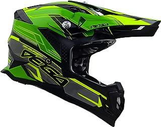 Vega Helmets Unisex-Adult Off-Road MCX Lightweight Fully Loaded Dirt Bike Helmet (Green Stinger Graphic, MD)