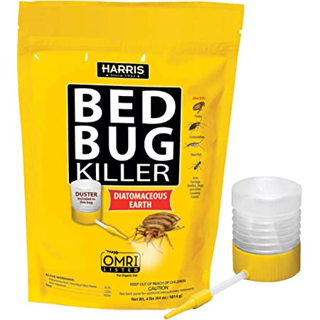 Harris Bed Bug Killer, Diatomaceous Earth (4lb with Duster Included Inside The Bag)