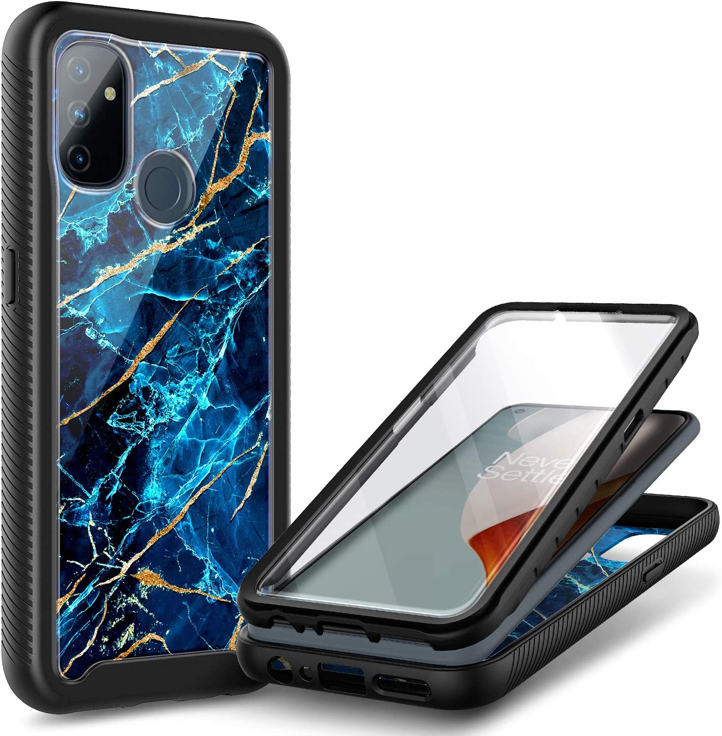 NZND Case for Under blast sales OnePlus Fort Worth Mall Nord Screen N100 Built-in Protector with