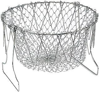 Starthi Collapsible Colander Stainless Steel Food Strainer with Handle, Fruit Basket, Vegetable Steamer Basket, Multi Func...