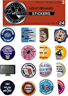 Premier 24 Adult Achievement Stickers ( Adulting) Perfect Funny for White Elephant Gifts, Hostess and Gag giftsGift