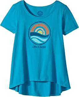 Life is Good Kids - Color Block Sunrise Scoop Neck Swing Tee (Little Kids/Big Kids)