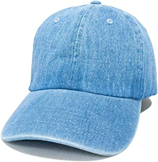 NEWHATTAN ニューハッタン 正規品 デニム ウォッシャブル キャップ 帽子 定番 別注 オリジナル 作成 刺繍 対応可 1155
