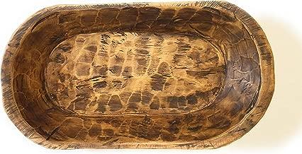Decorative Wood Dough Bowl- Farmhouse Rustic Bowl- The Durango