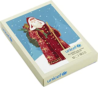 Hallmark UNICEF Boxed Christmas Cards, Classic St. Nick (12 Cards and 13 Envelopes)