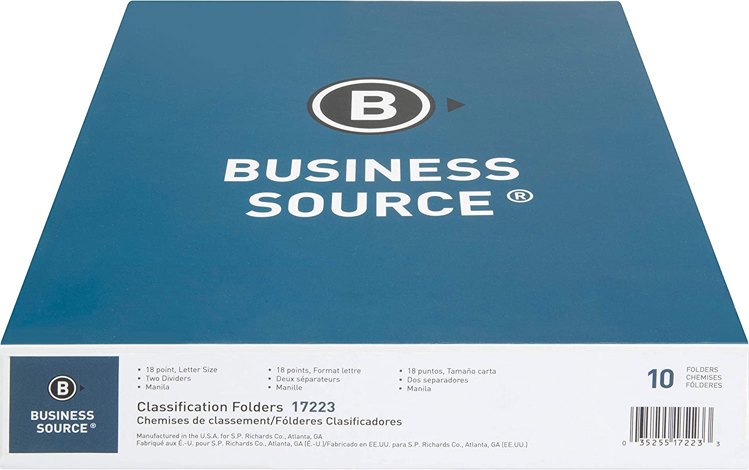 Business Source 6-Part Folders Classification Manila Quantity Max 67% OFF limited