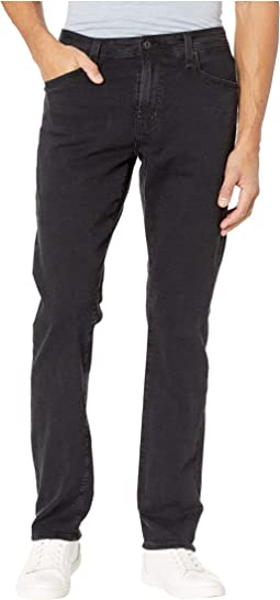 Everett Slim Straight Leg Black Denim Pants in Brimstone