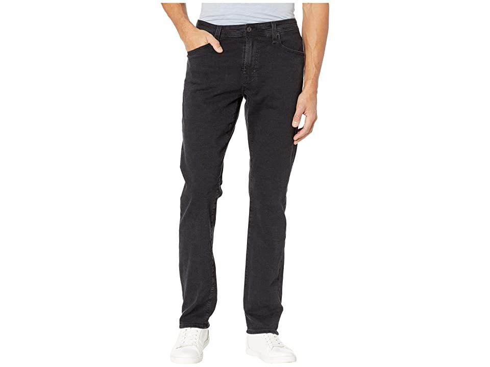 AG Adriano Goldschmied - AG Adriano Goldschmied Everett Slim Straight Leg Black Denim Pants in Brimstone