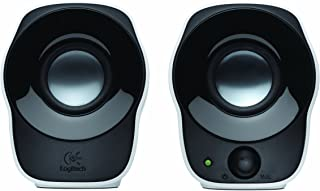 (Renewed) Logitech Z120 Stereo Speaker (Black and White)