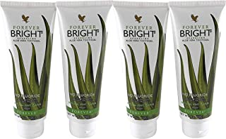 Forever Living Bright Toothgel, 4.6 oz each, Pack of 4, Natural Mint Flavor