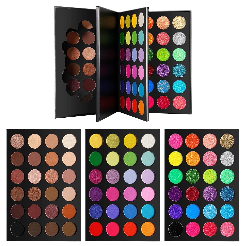 DE'LANCI Makeup Eyeshadow safety Palette 72 Glitt Matte Shimmer Shades Max 88% OFF