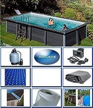EUGAD 0019DB-2 Dalle terrasse 30x60cm pour jardin balcon Protection sol Fixation clipsable 12 pi/èces Brun