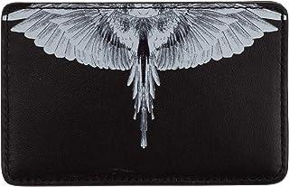Marcelo Burlon hombre Wings fundas para tarjetas de visita black white