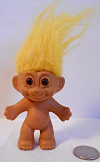 Troll Doll With Yellow Hair and Brown Eyes 3