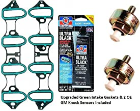APDTY 89060413-TSB2 Intake Manifold Leak Repair Kit Includes Upgraded Green Gaskets 2 Knock Sensors & Sealant (All ACDelco Parts; Bolts Not Included; Repairs TSB 02-06-04-023A; Solves DTC P0332)