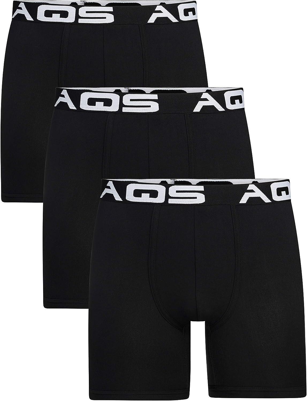 aqs Men's Boxer Briefs - 3 Pack