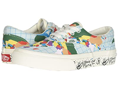 Vans Kids Vans x Save Our Planet Era (Little Kid/Big Kid) ((Save Our Planet) Classic White/Multi) Kids Shoes