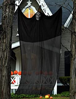 Bosidu 10.8Ft Hanging Ghost Hallloween Decorations,Scary Hanging Skeleton Flying Ghost Props for Halloween Outdoor Yard Party Decorations