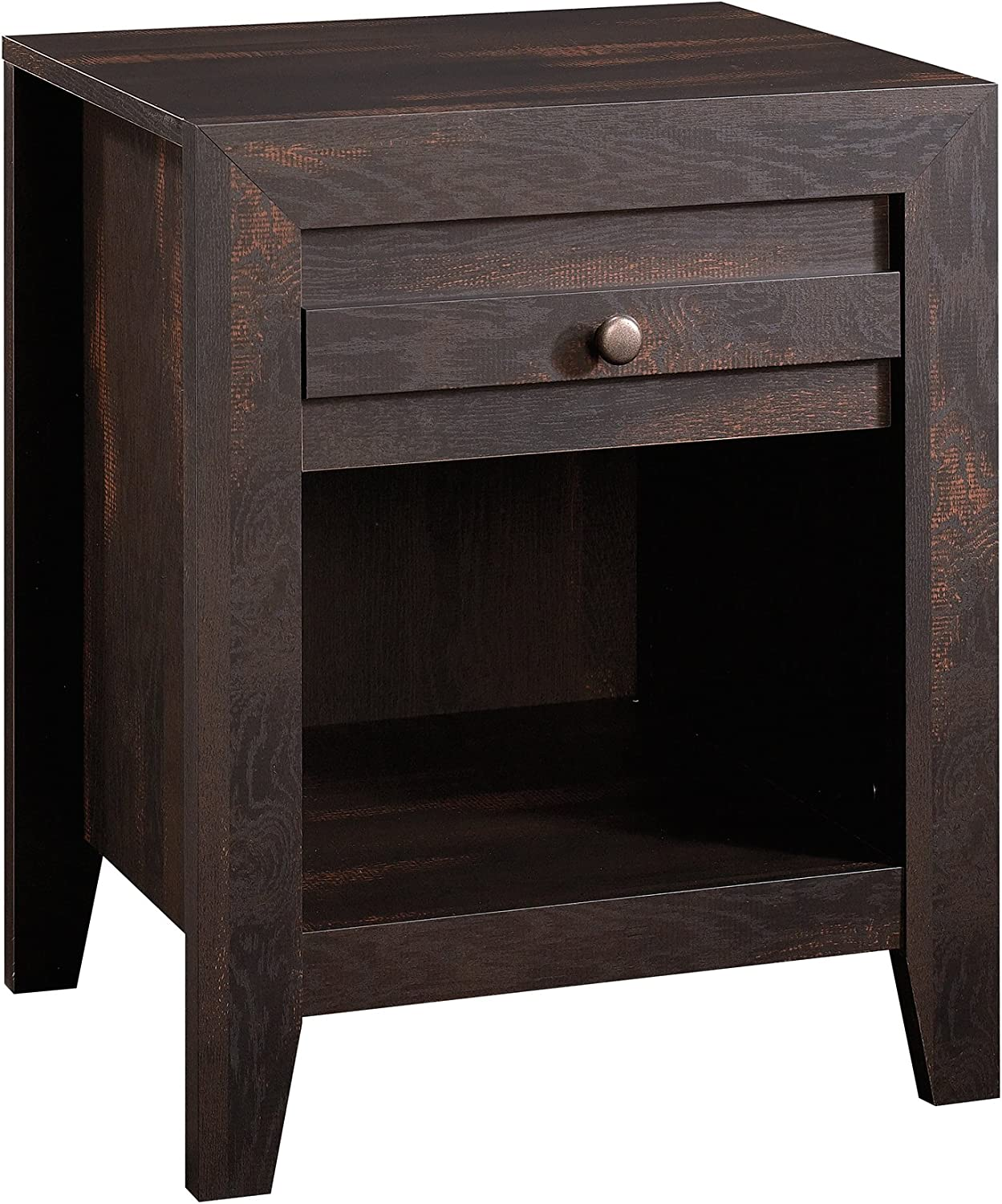 Sauder 418587 Furniture, Night Stand, Charcoal Pine