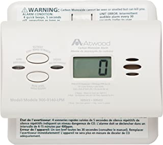 Atwood 32703 RV Carbon Monoxide Detector - LCD Digital, White