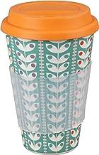 Cambridge CM04438 Bamboo Retro Daisy Reusable Coffee Cup Travel Mug