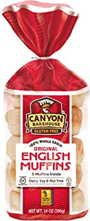 Canyon Bakehouse Gluten-free English Muffins, 14 Ounce [3 Pack]