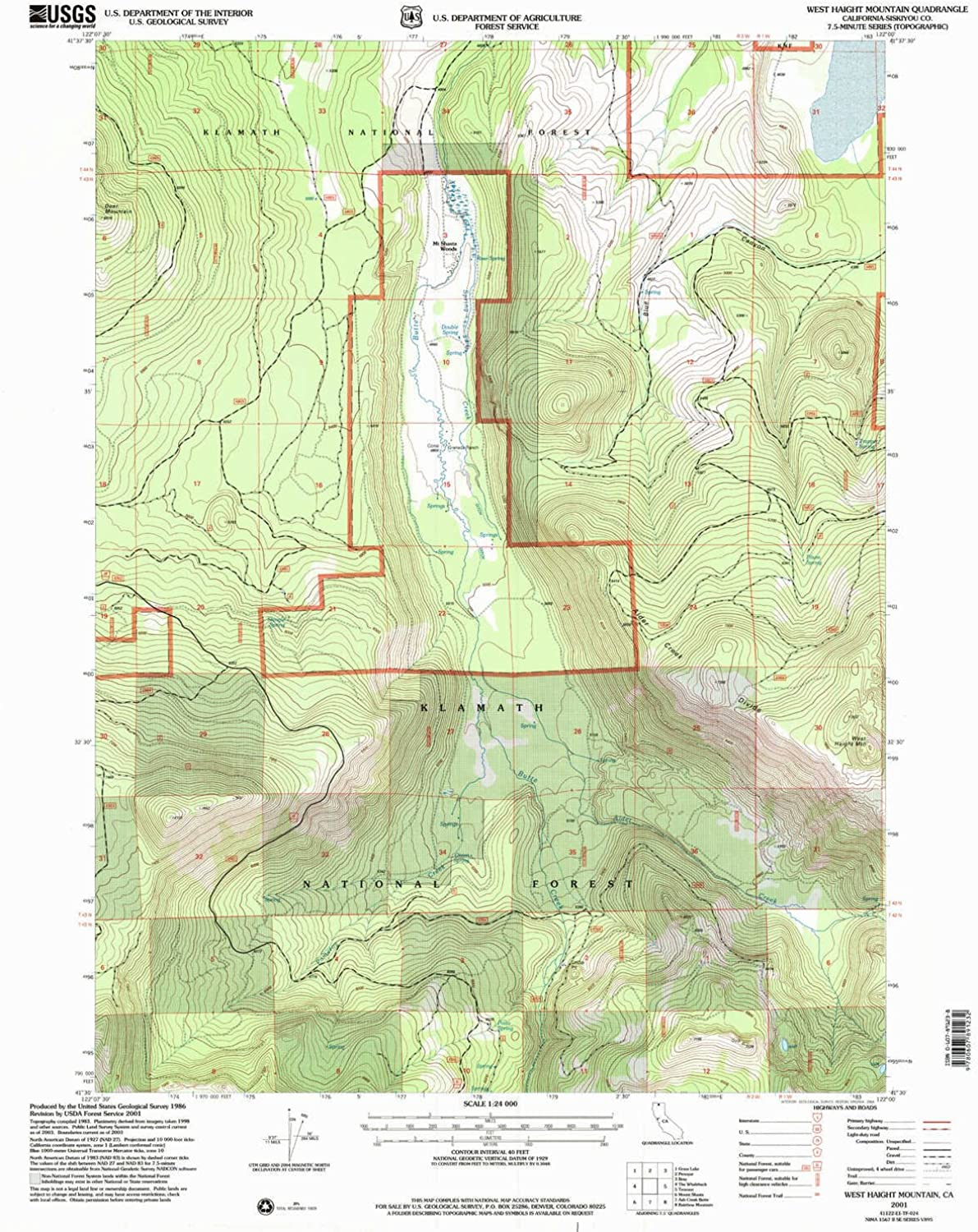 West Haight Mountain CA topo map, 1 24000 Scale, 7.5 X 7.5 Minute, Historical, 2001, Updated 2004, 26.8 x 21.4 in