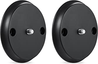 Wall Mount for Nest Cam IQ – Mount Nest IQ with Screws onto Any Wall or Use the Strong Magnet to Mount the Camera onto Any Metallic Surface Without Tools or Wall Damage –by Wasserstein (2 Pack, Black)