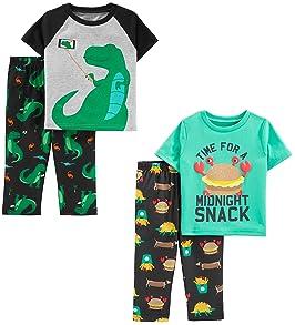 Carter/'s Just One You 4-Piece Race Car Boys Snug Fit Pajama Set