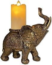 Elefante decorativo The NIFTY NOOK Lucky com vela de LED sem chama para casa e escritório