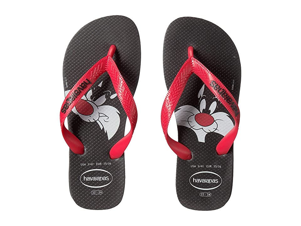 Havaianas Kids Looney Tunes Sandal (Toddler/Little Kid/Big Kid) (Black/Red) Kids Shoes