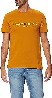 Tommy Hilfiger Mannen Tommy Flag Hilfiger Tee Sport Shirt, blauw (blauw kwarts 439), S