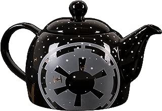 Star Wars Ceramic Teapot - Black with Pinache Empire Symbol and Tie Fighter Design - 24 oz