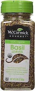 McCormick Gourmet - oz 100% Organic Basil, 2.85 Ounce